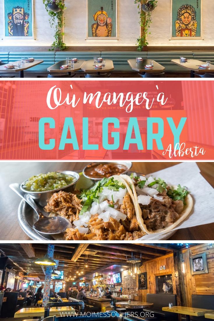 Où manger à Calgary, Alberta - Canada