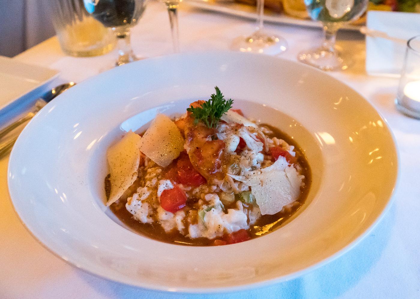 Risotto au homard du restaurant à la bonne vôtre