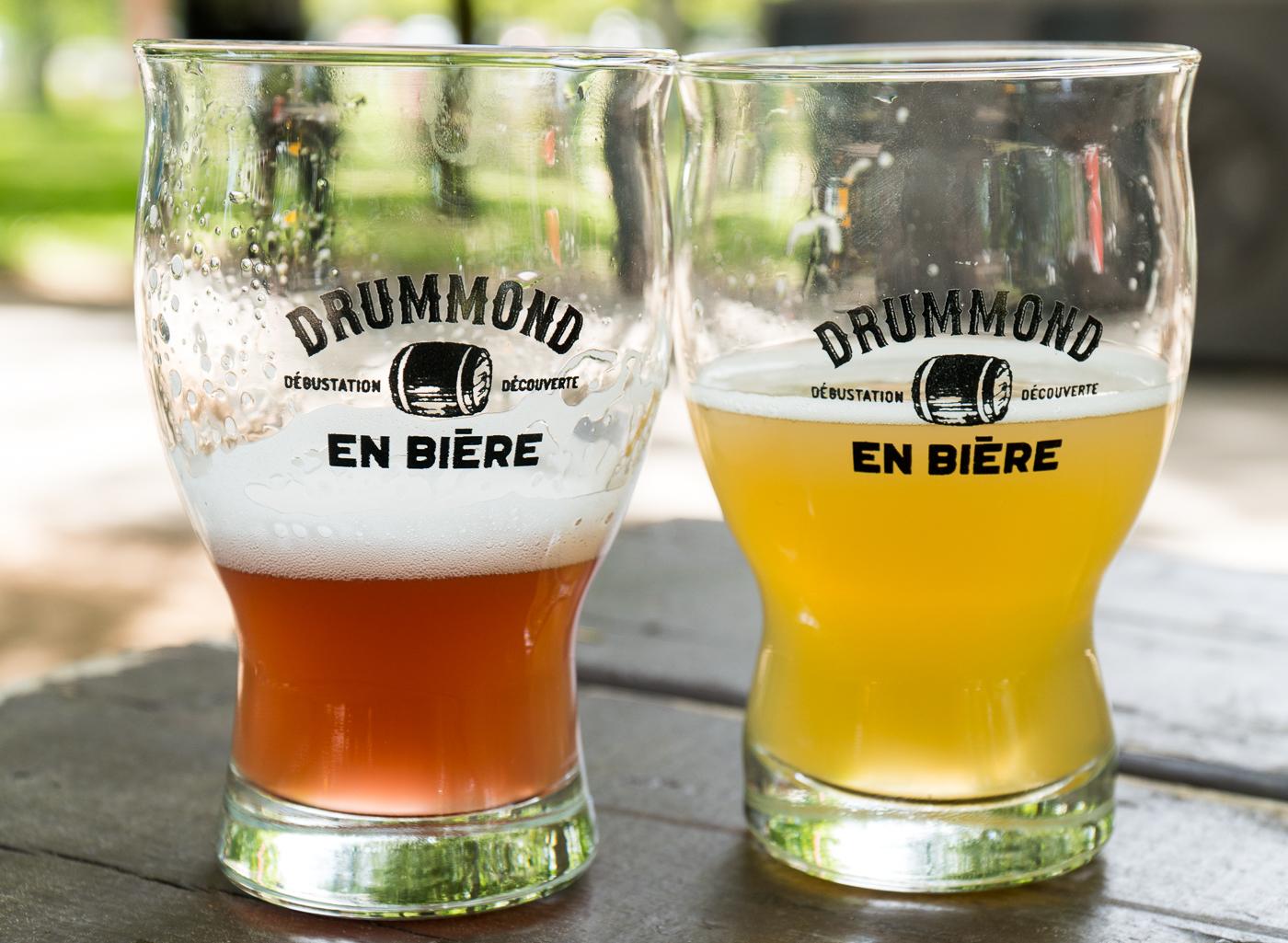 Verres de bière - Dégustation à Drummond en bière