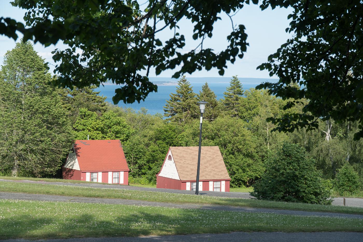 Vue du chalet Fundy Highlands Inn - Alma, New Brunswick
