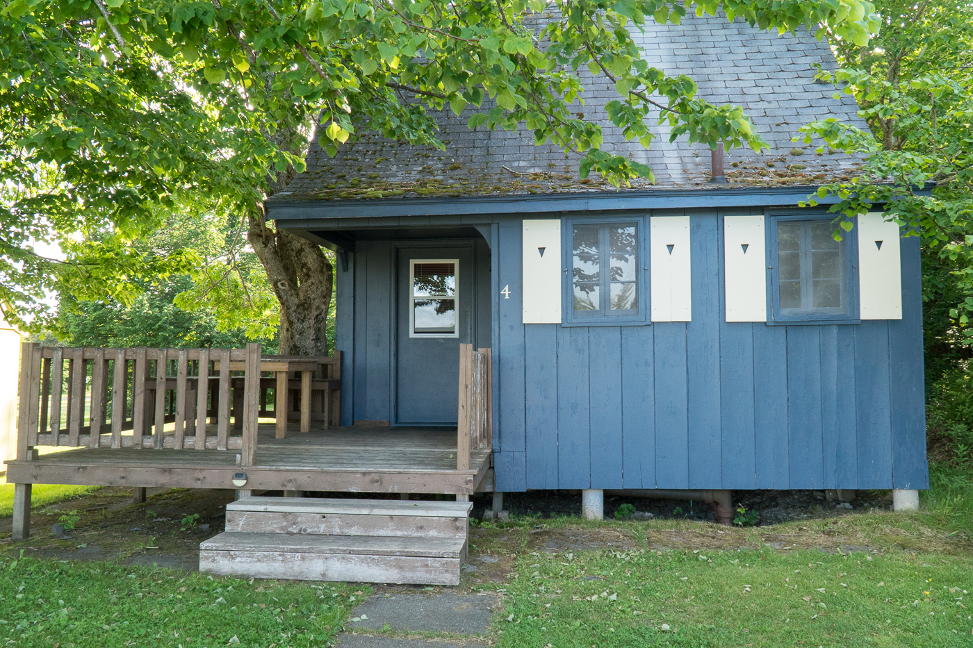 Notre chalet bleu de Fundy Highlands Chalets au parc national de Fundy