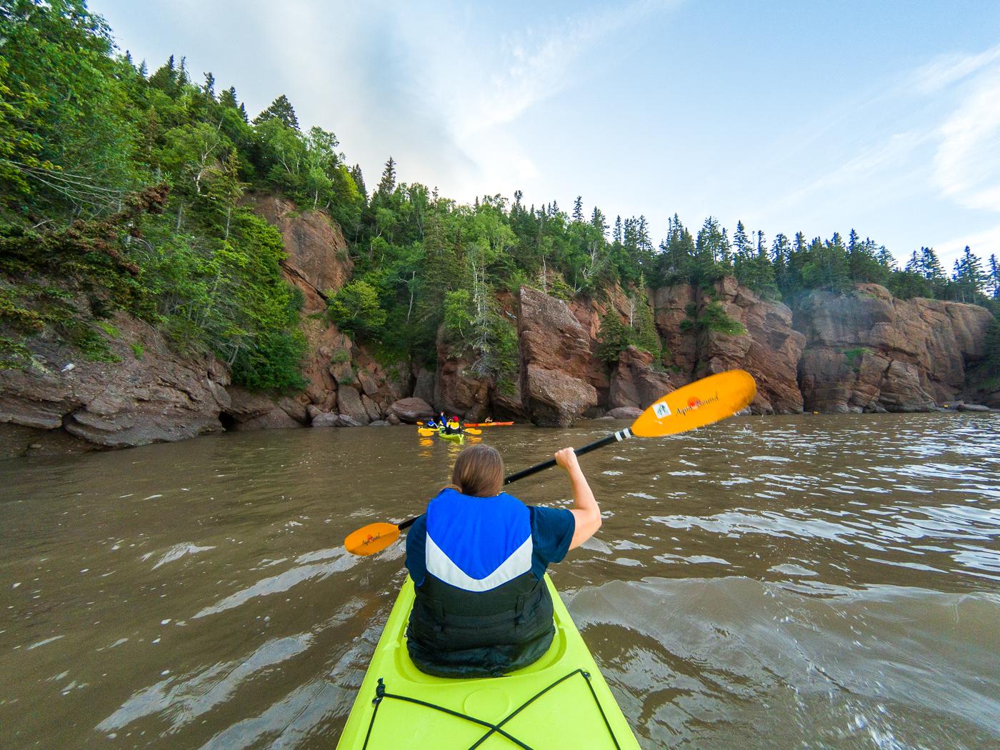Rochers Hopewell en kayak
