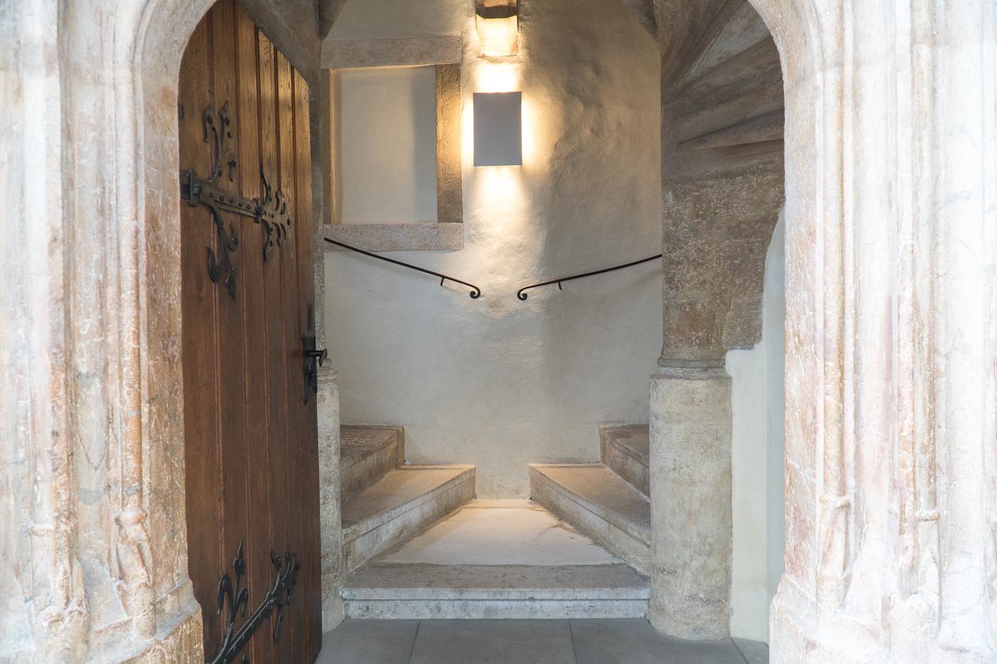 Escalier double en colimaçon Doppelwendeltreppe au Burg, Autriche