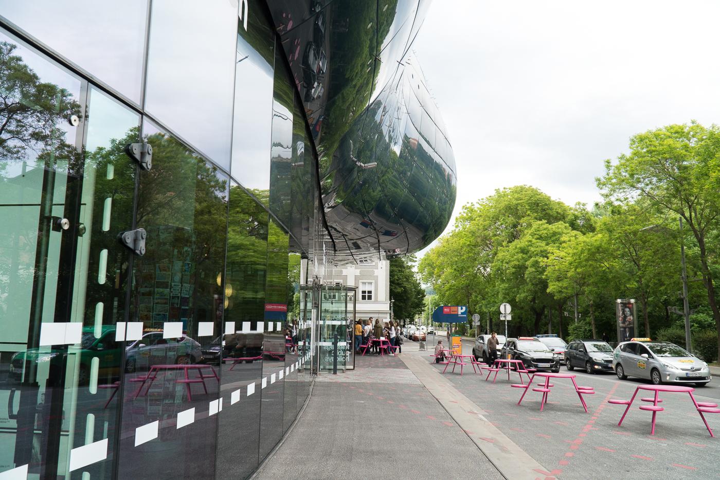 Façade extérieure du musée d'art Kunsthaus Graz
