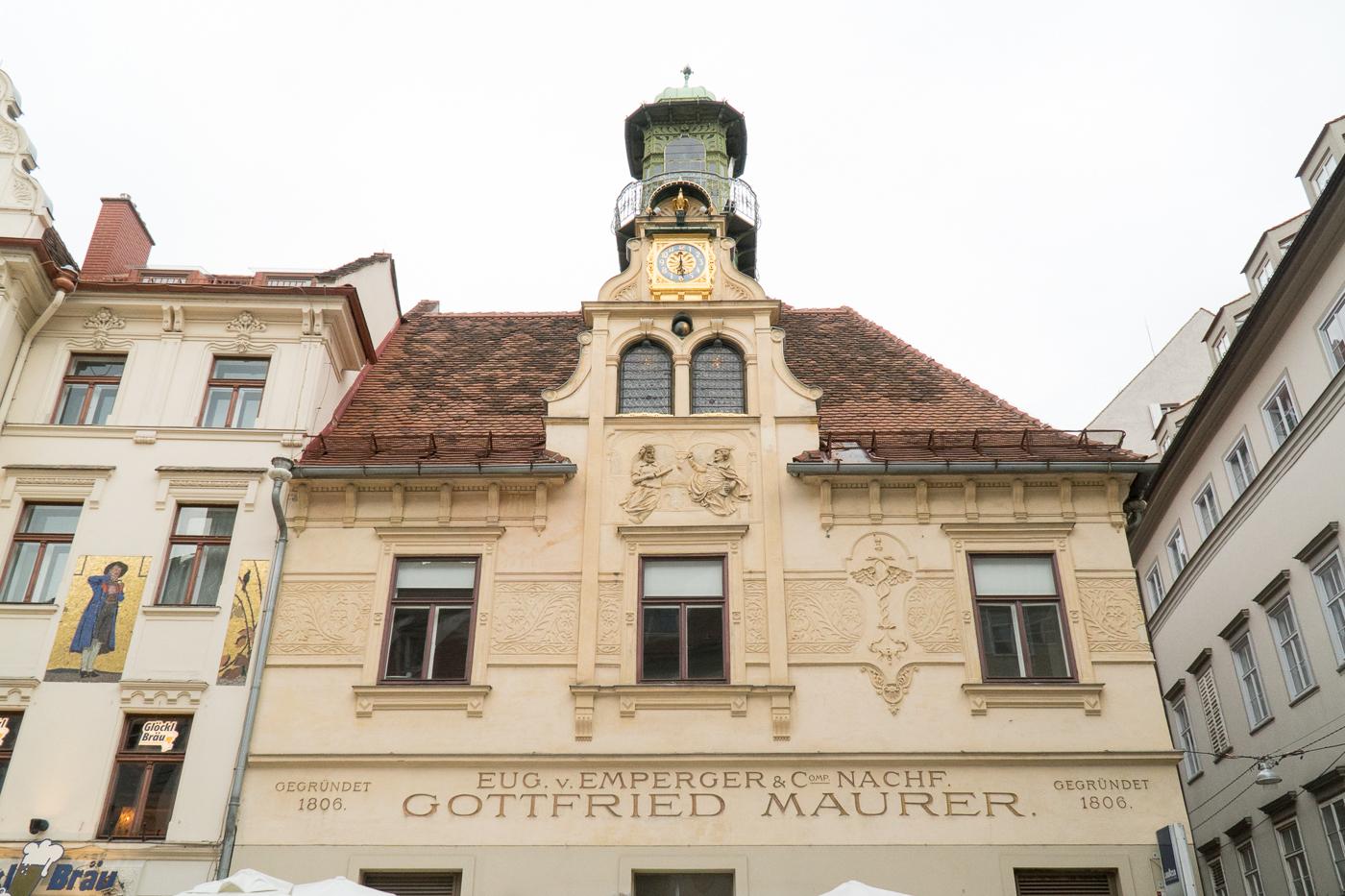 immeuble du Glockenspielplatz de Graz