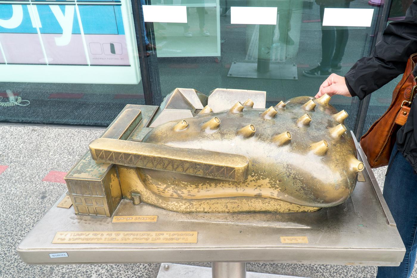 Modèle réduit du musée d'art Kunsthaus Graz