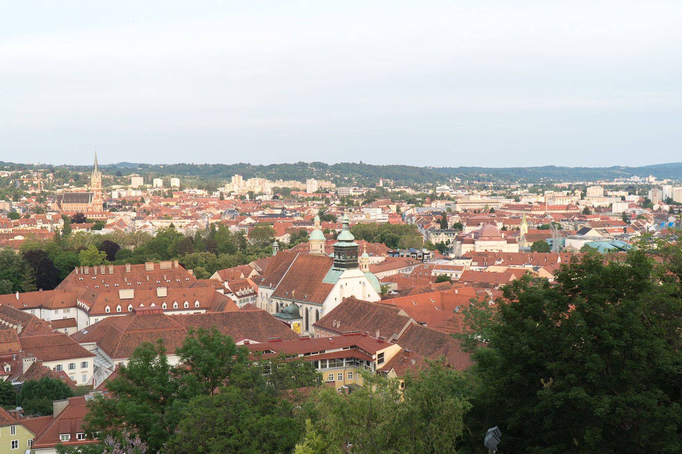 Panorama à 360 degrés de la terrasse de l'Uhrturm au Schlossberg