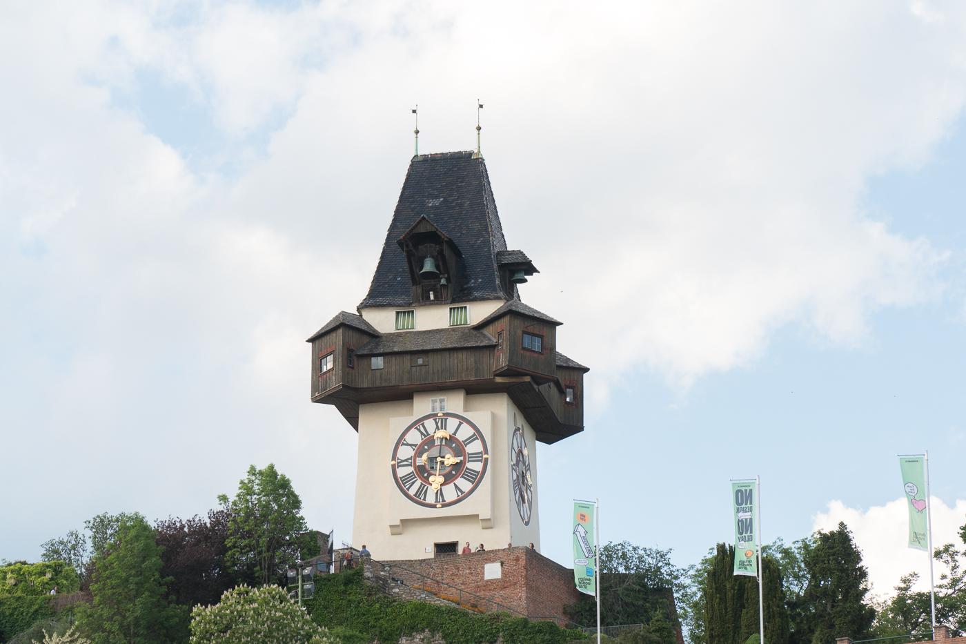 tour de l'horloge/Uhrturm au Schlossberg de Graz