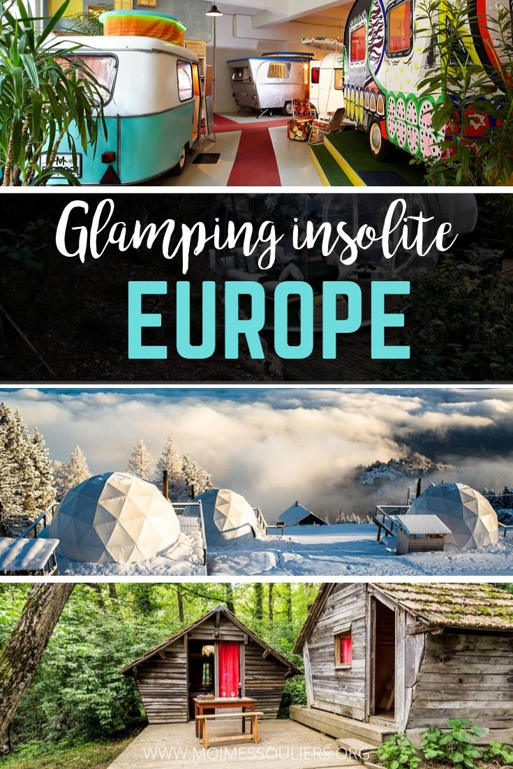 Bonnes adresses de glamping ou d'hébergement insolite original en Europe