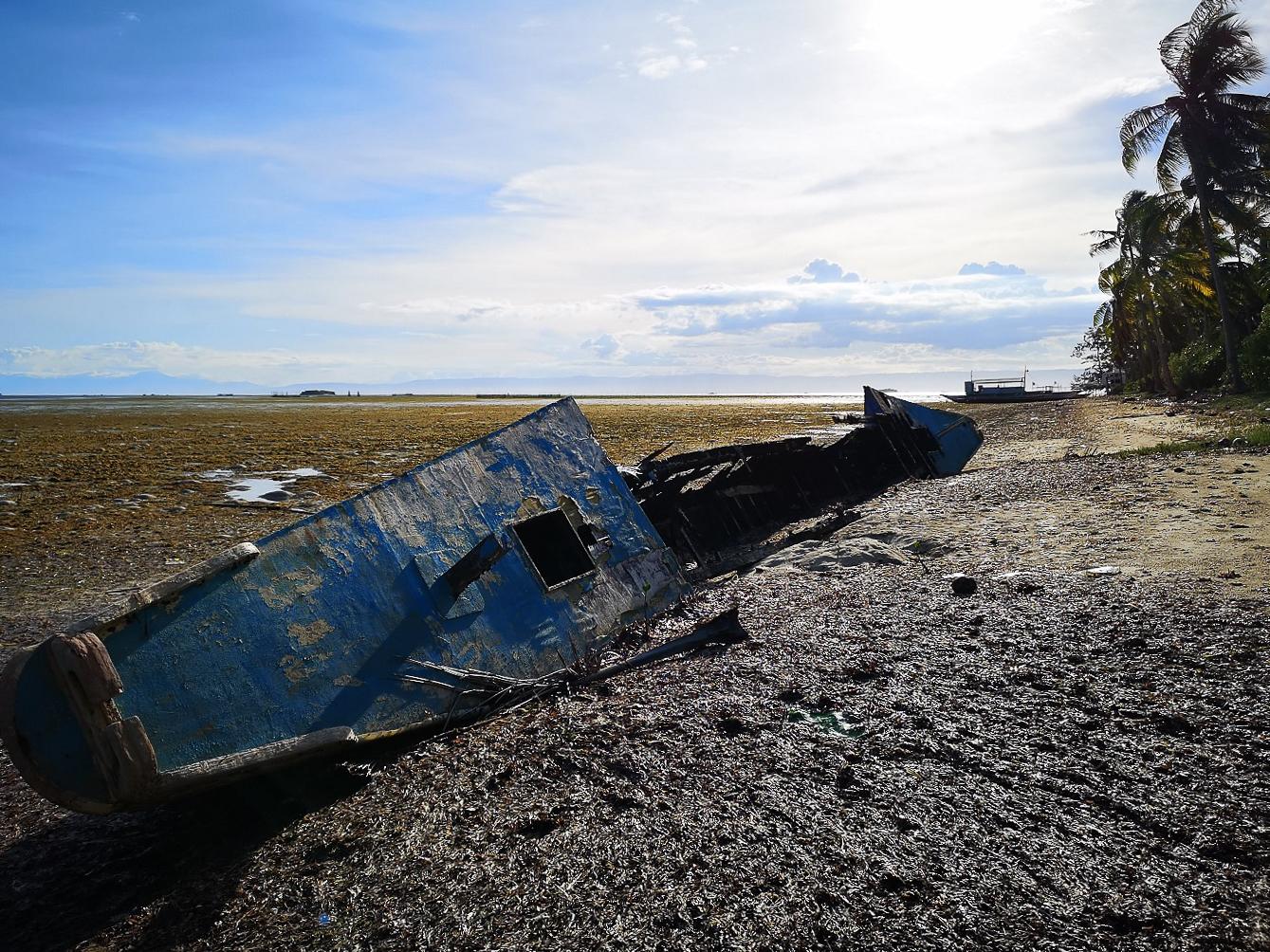 Carcasse de bateau à Danao Beach Panglao
