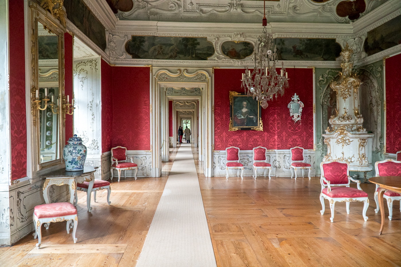 Couloir du château Schloss Eggenberg de Graz en Autriche