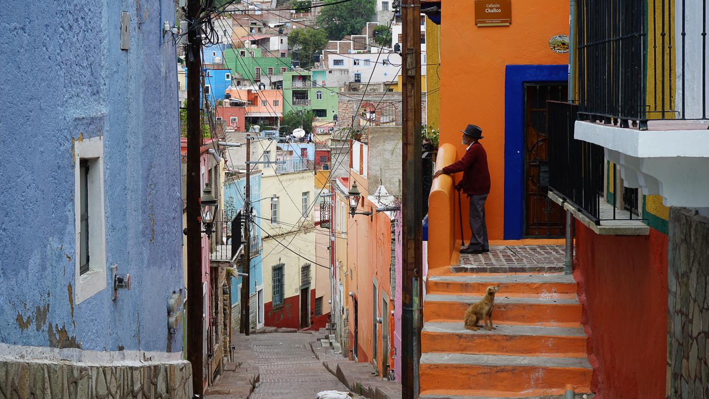 Rues colorées de Guanajuato au Mexique