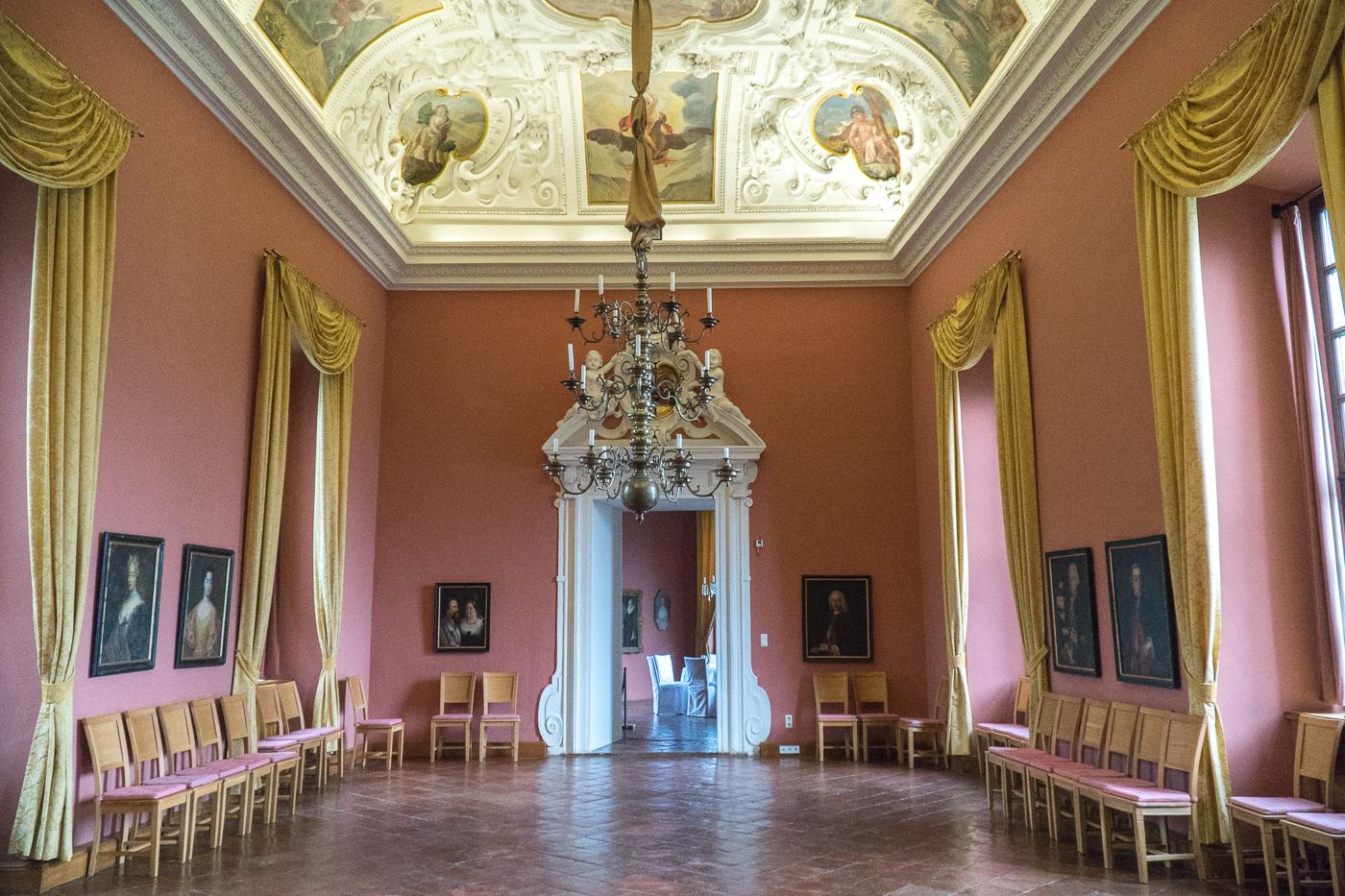 Salle intérieure du Burg Rabenstein