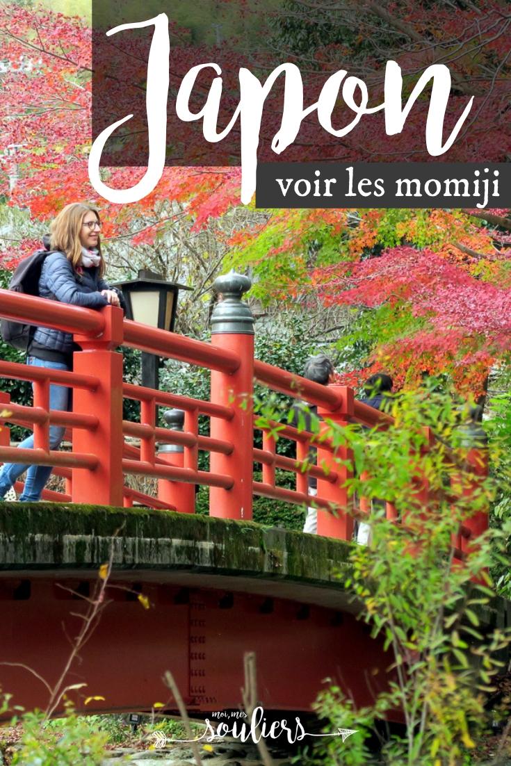 Voir les momiji au Japon