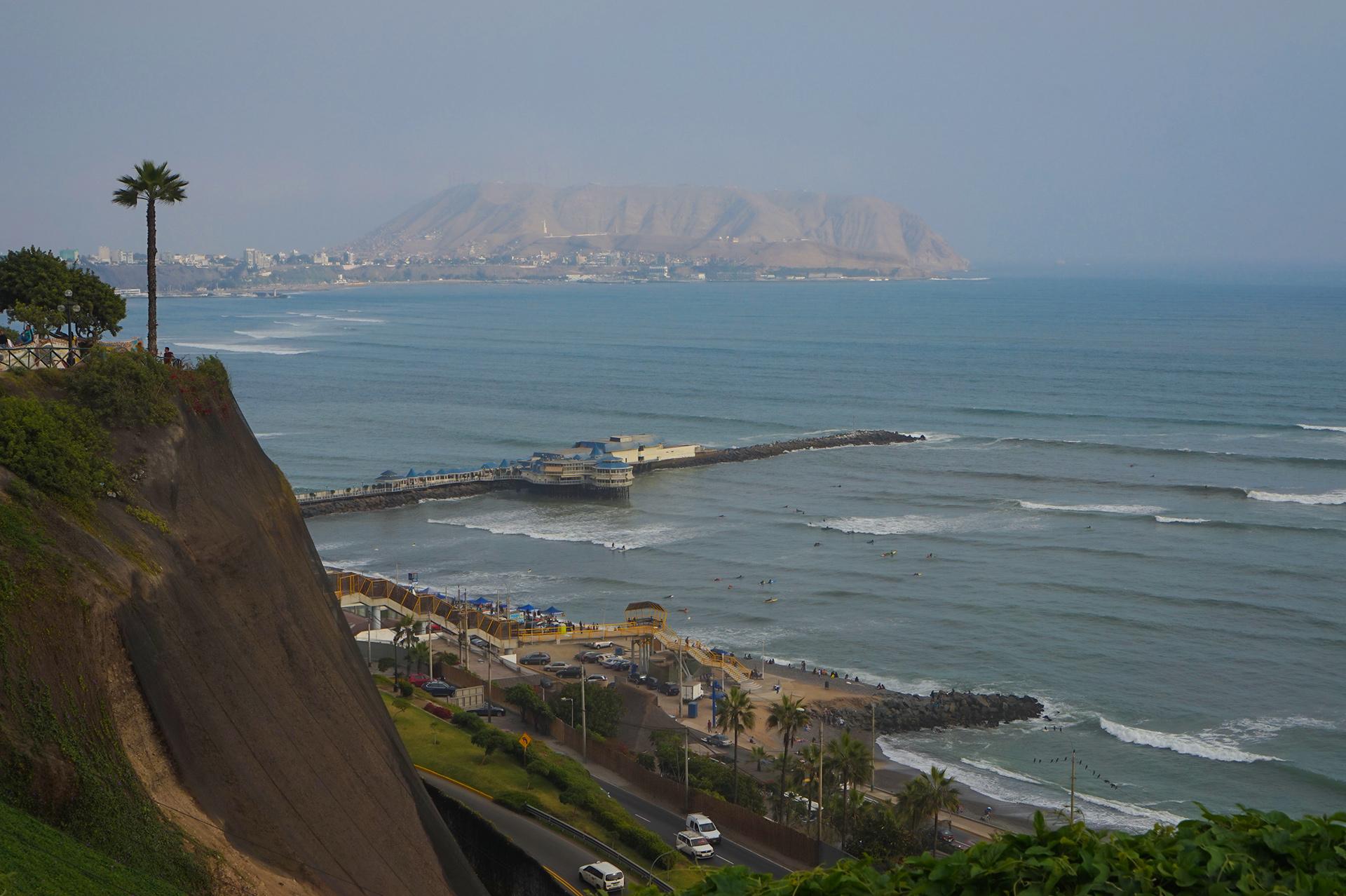 Vue à partir de Miraflores, Lima
