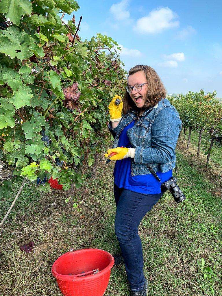 Jennifer dans les vignes