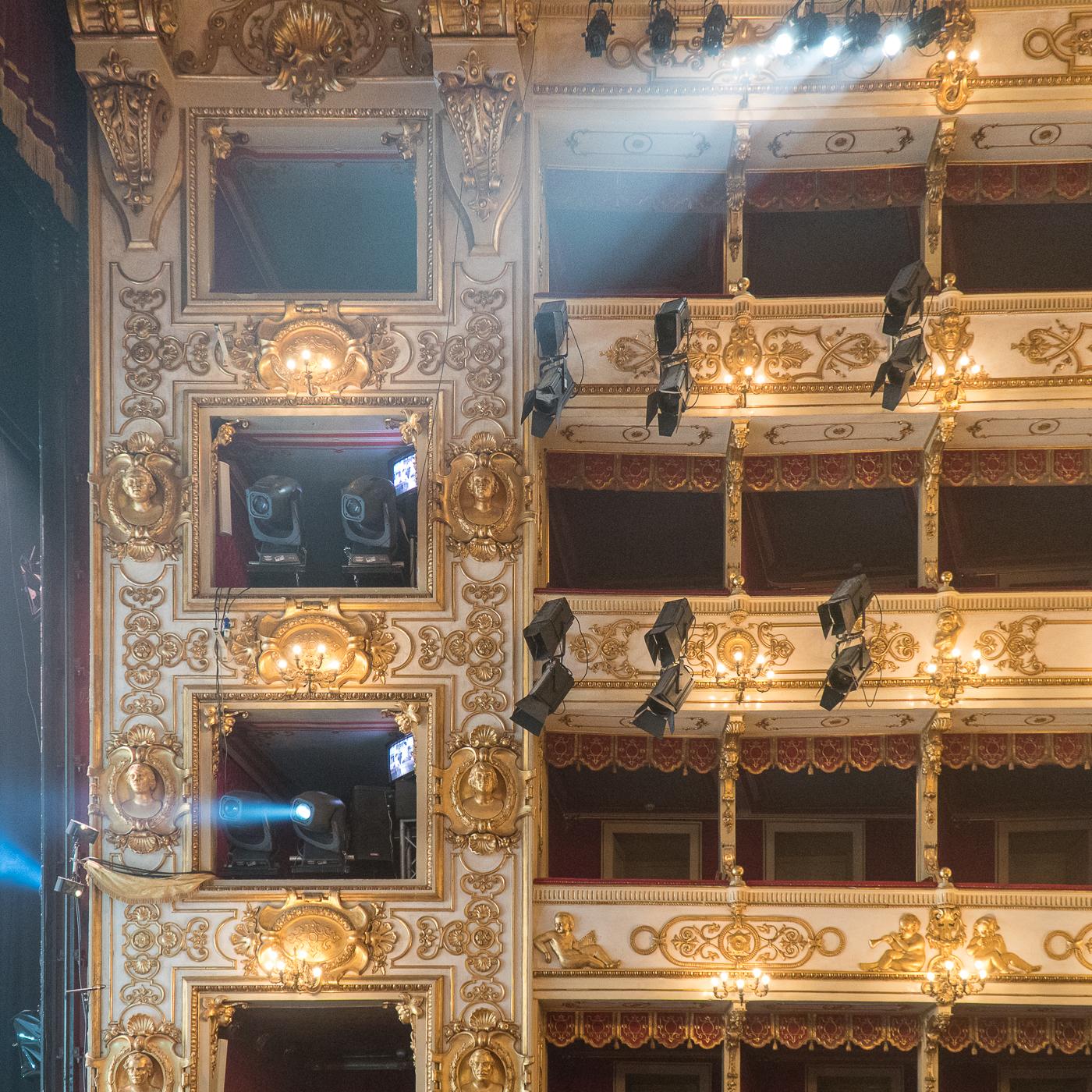 Intérieur du Teatro Regio de Parma en Émilie-Romagne