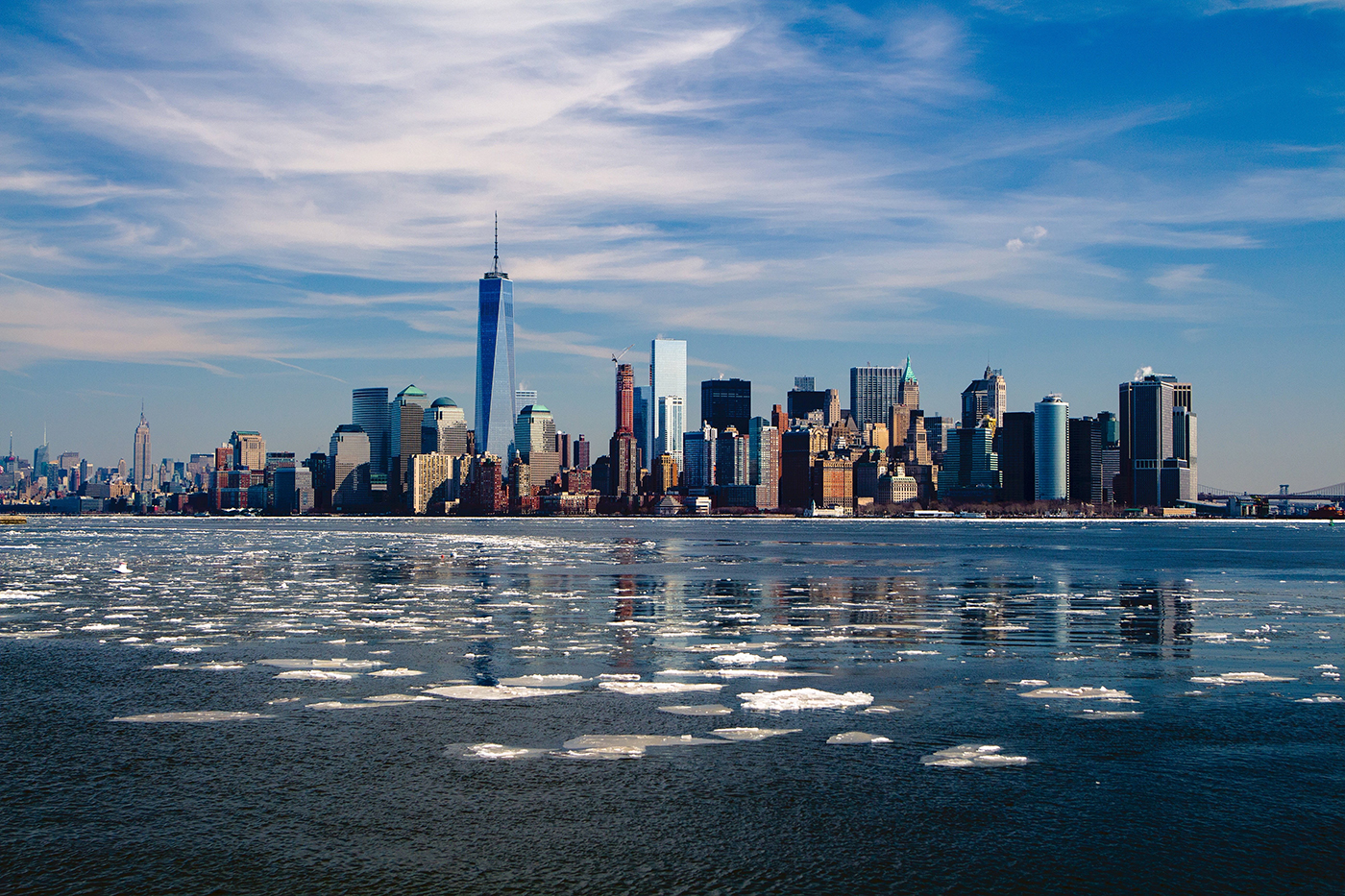 Baie de New York - Skyline de Manhattan