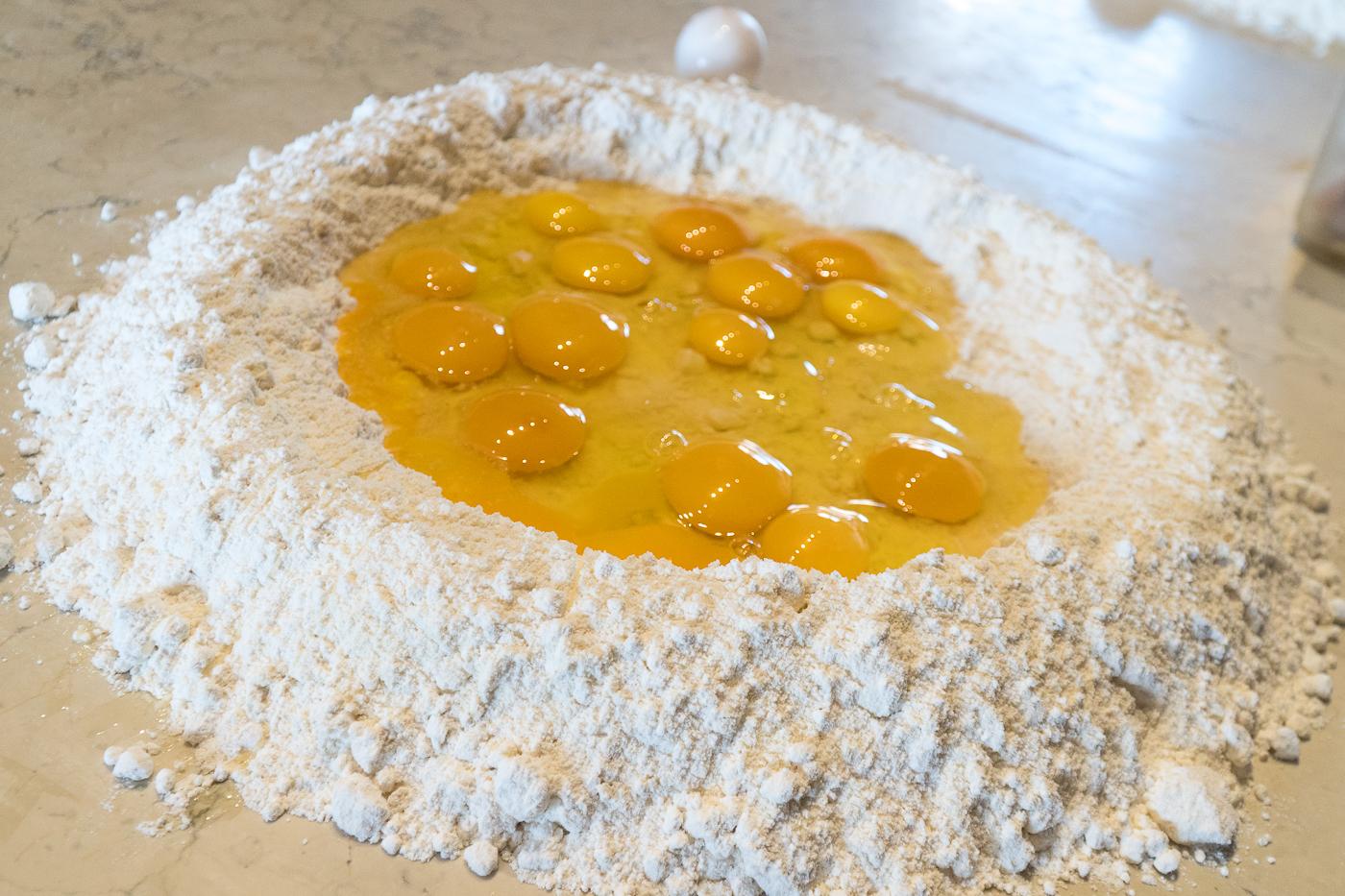 préparation du cours de cuisine de pâtes en Italie