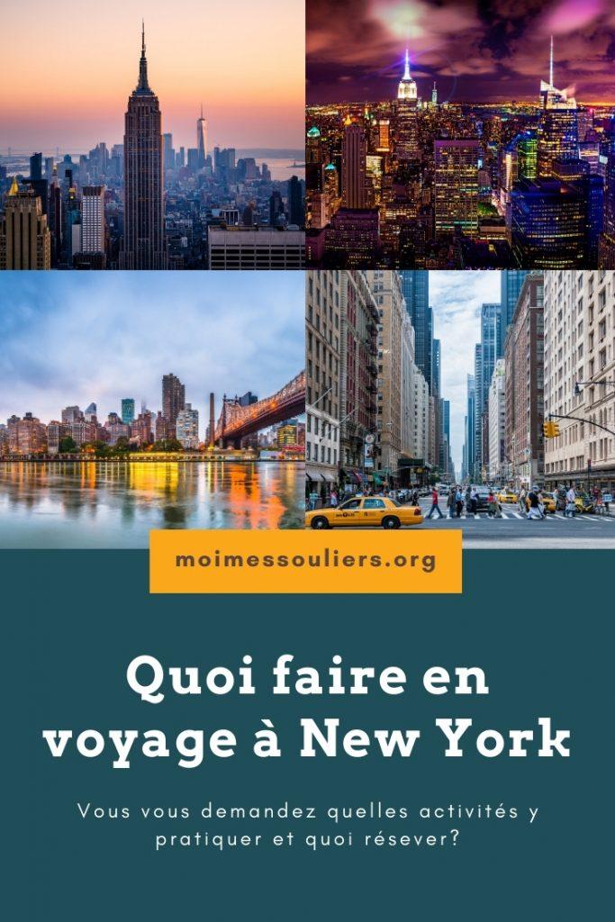 Quoi faire en voyage à New York