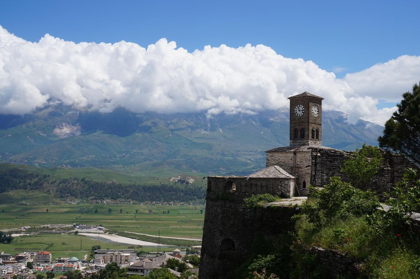 Citadelle de Gjirokaster en Albanie
