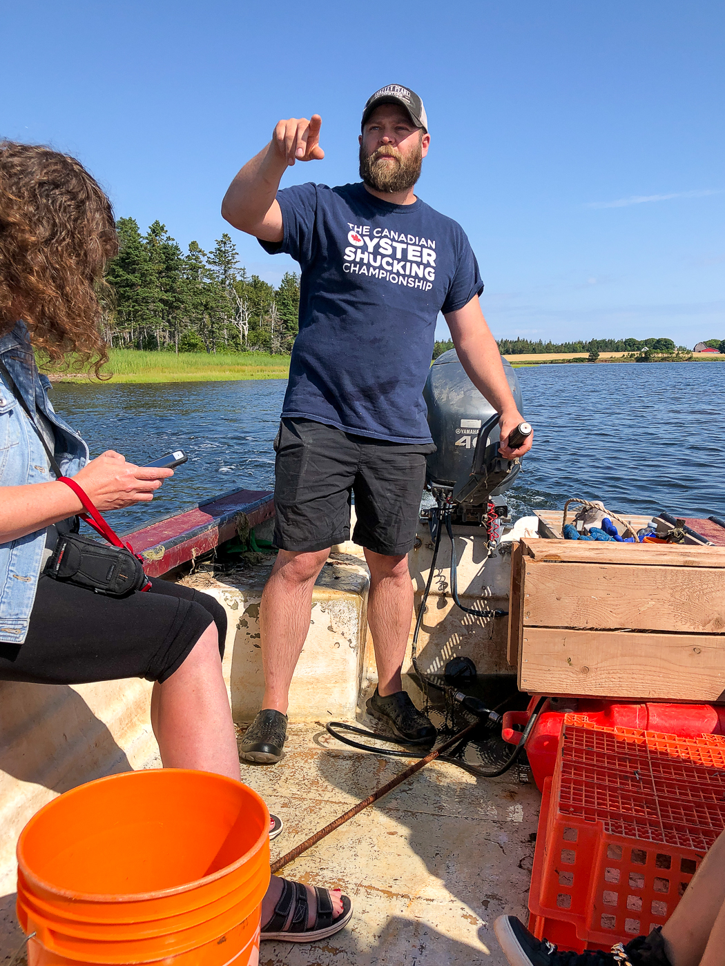 Jeff Noye en bateau - Excursion aux huîtres