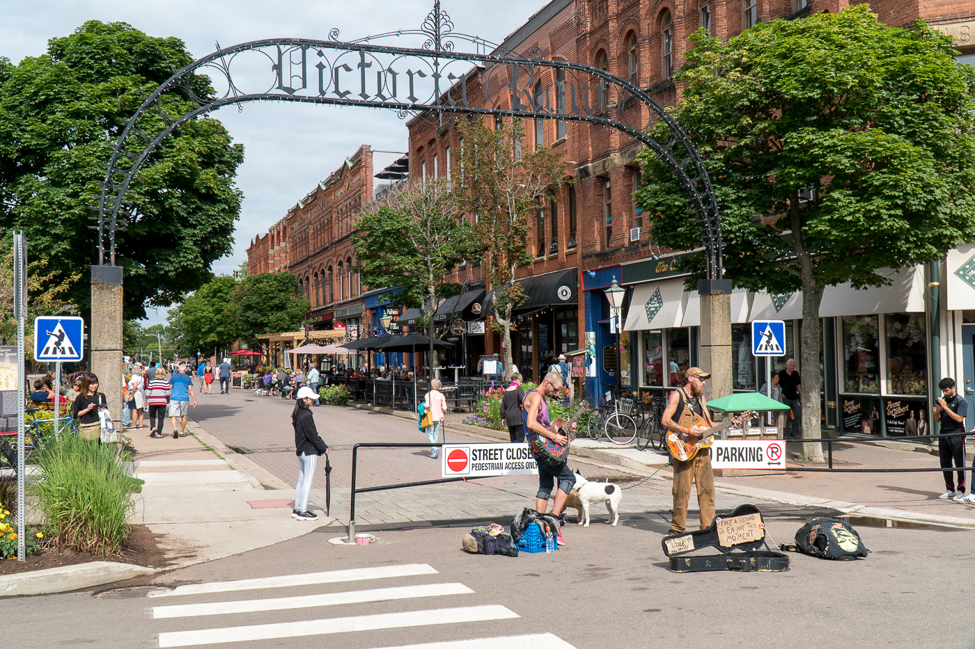 Victoria Row au centre-ville de Charlottetown