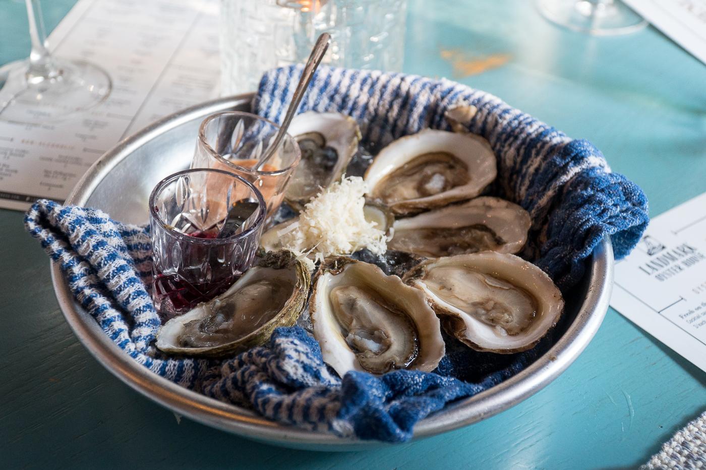 Assiette d'huîtres Landmark Oyster House