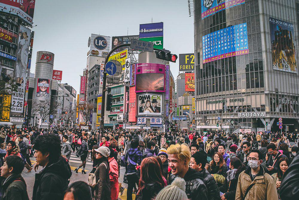 Foule au Japon - Blog voyage Freelensers
