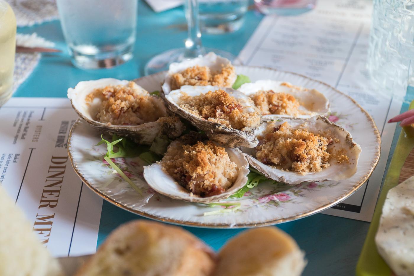 Huîtres gratinées au Landmark Oyster House