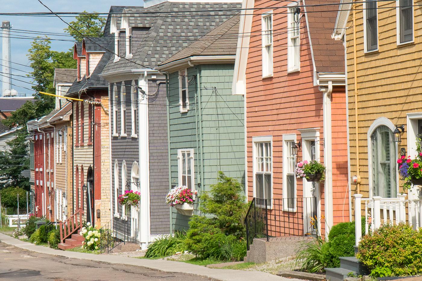 Maisons pastel - Quoi faire à Charlottetown