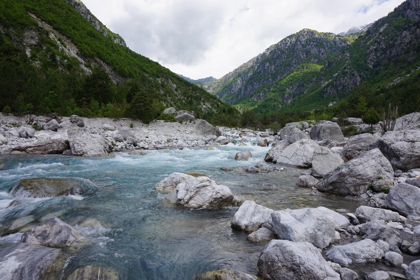 rapides et alpes Albanaises à voir