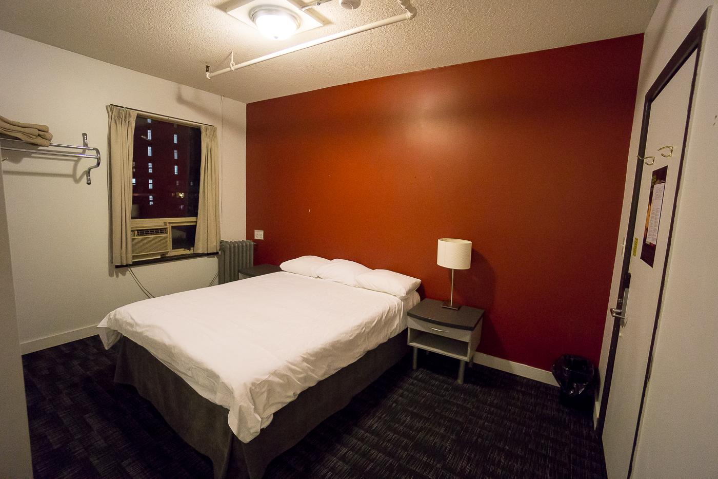 Chambre double privée au hostel HI Vancouver Central