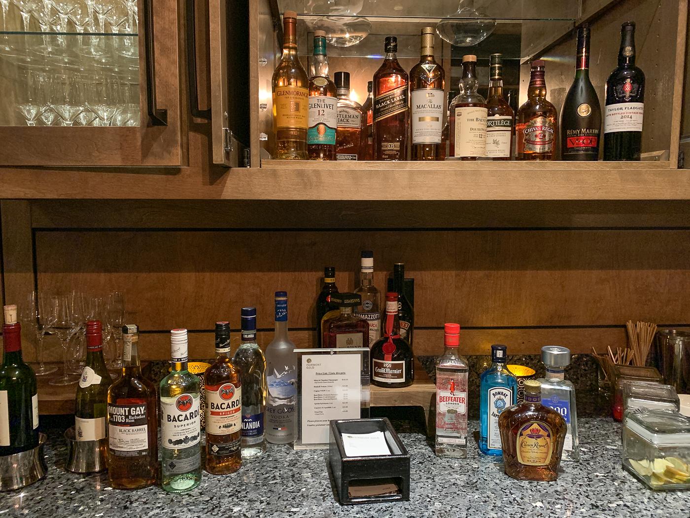Honneur bar au Fairmont Château Laurier