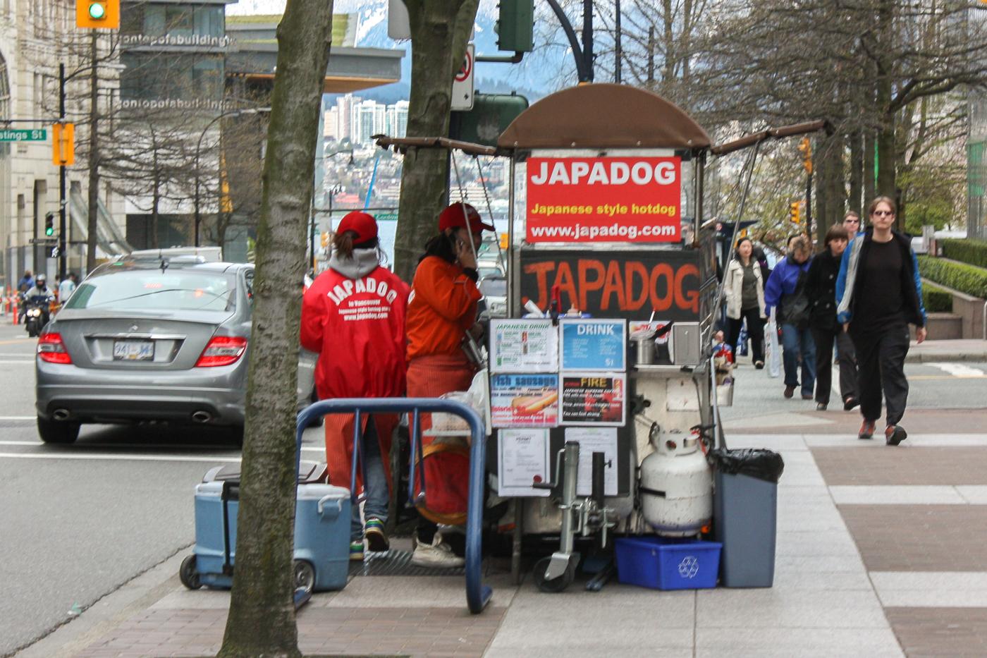 Kiosque de street food Vancouver Japadog