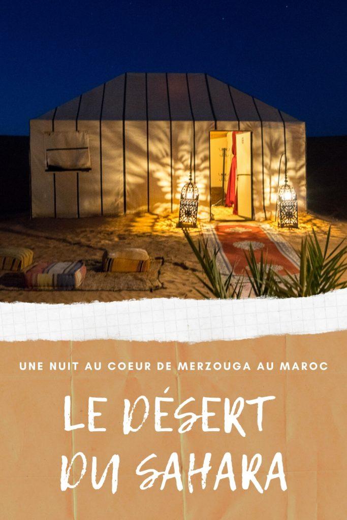 Nuit à Merzouga, Maroc - Désert du Sahara