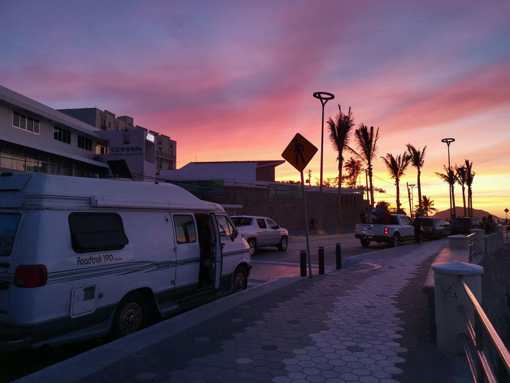 Coucher de soleil à Mazatlán au Mexique