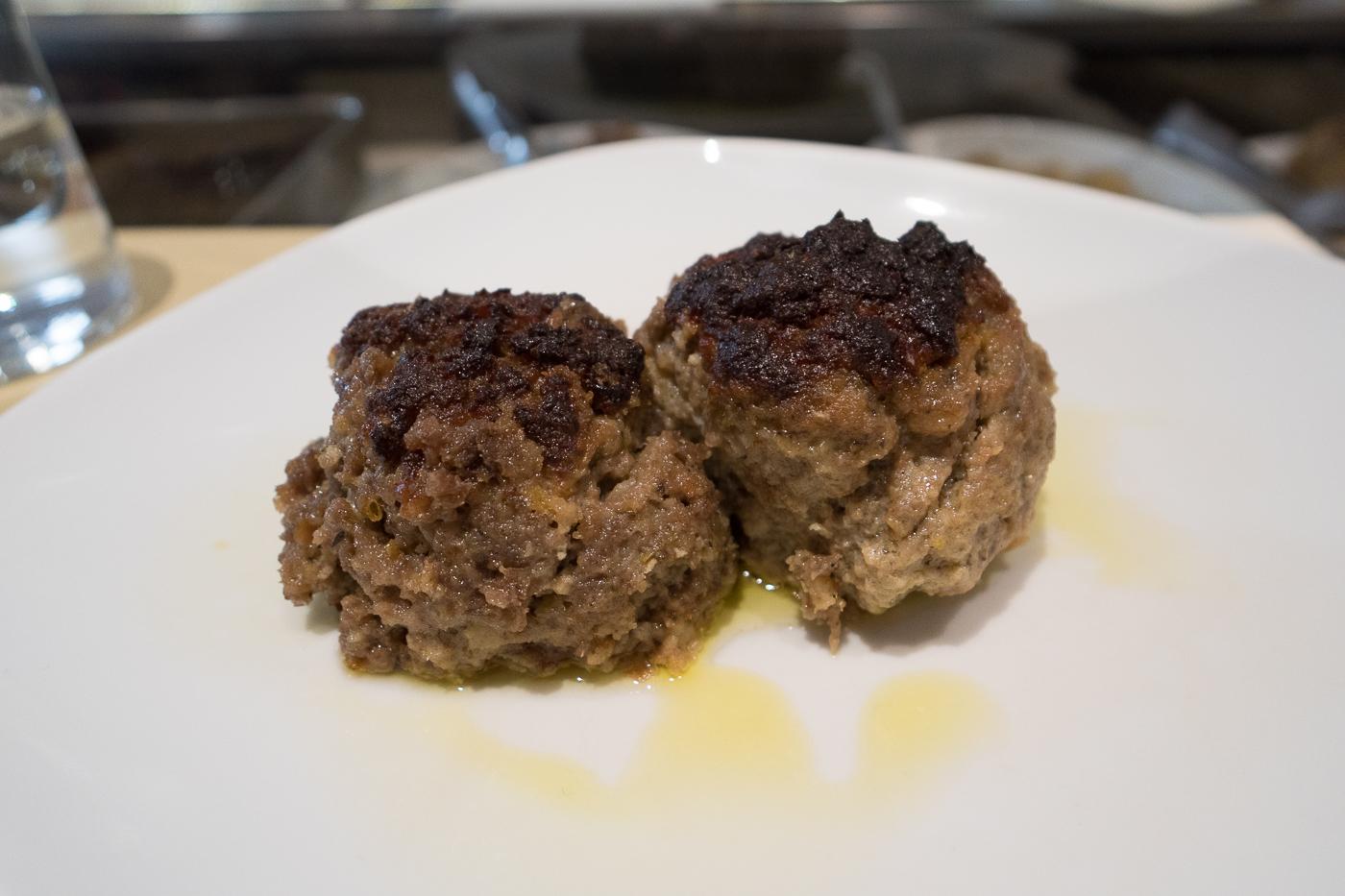 Boulettes de viande succulentes du Zeb Gastronomia où manger dans l'Oltrarno