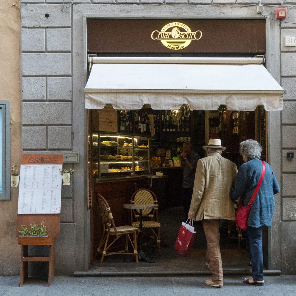 Façade du Café Chiaroscuro - Un des meilleurs cafés de Florence