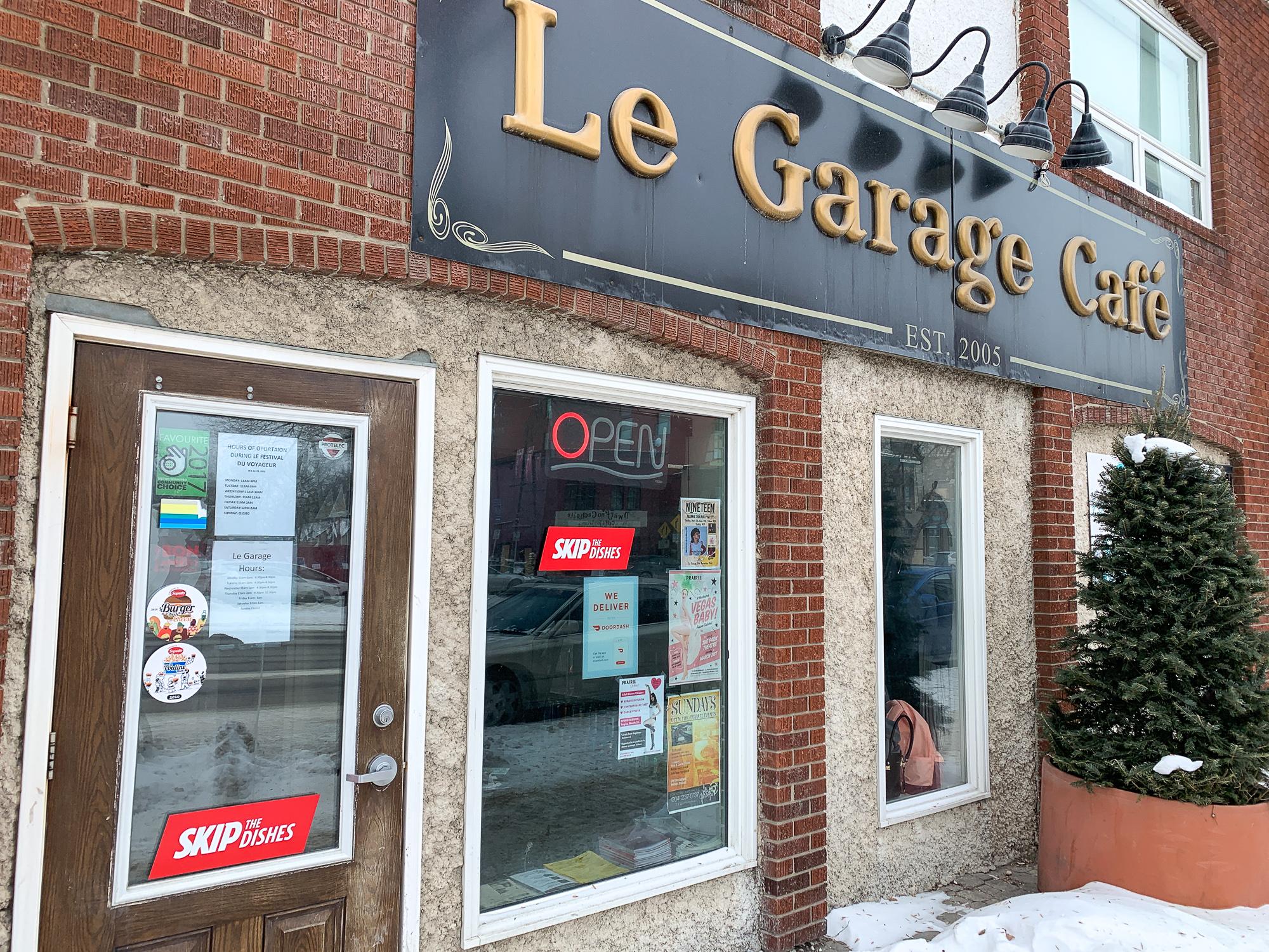 Devanture Le Garage Café - Resto de St-Boniface