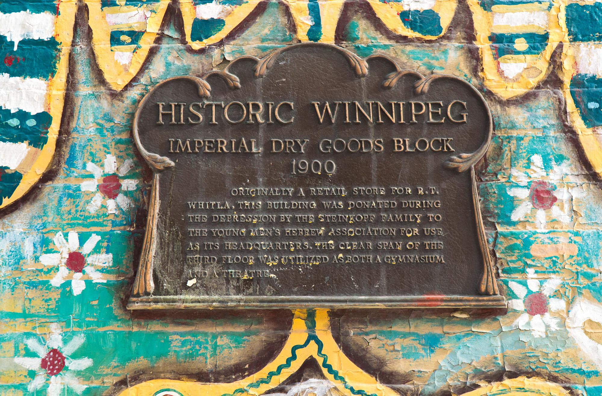 Enseigne Winnipeg historique - Street art