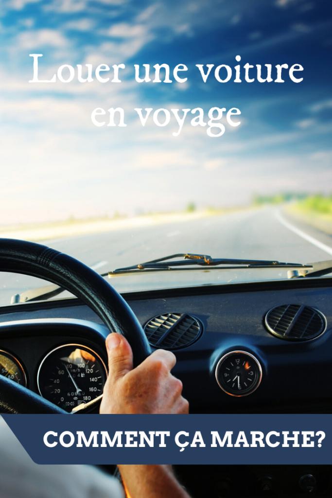 Louer une voiture en voyage