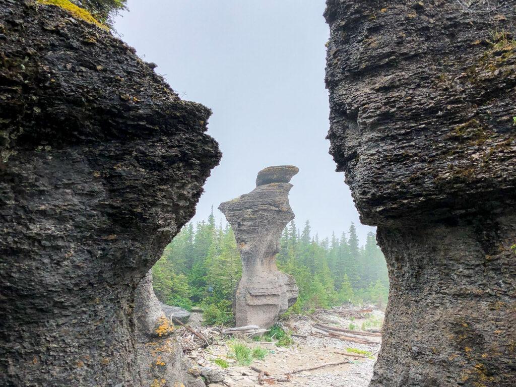 Monolithes de l'archipel de Mingan en roadtrip sur la Côte-Nord, Québec