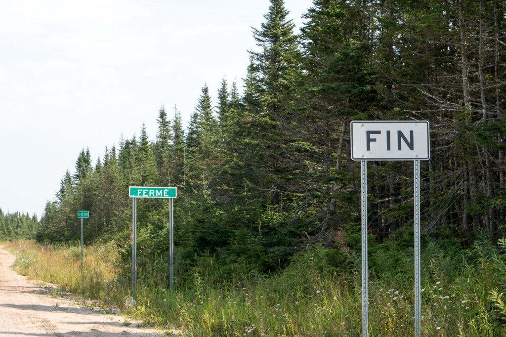Fin de la route 138 à Kegaska