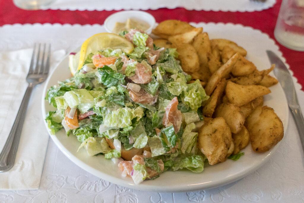 Salade au saumon fumé Le Goynish
