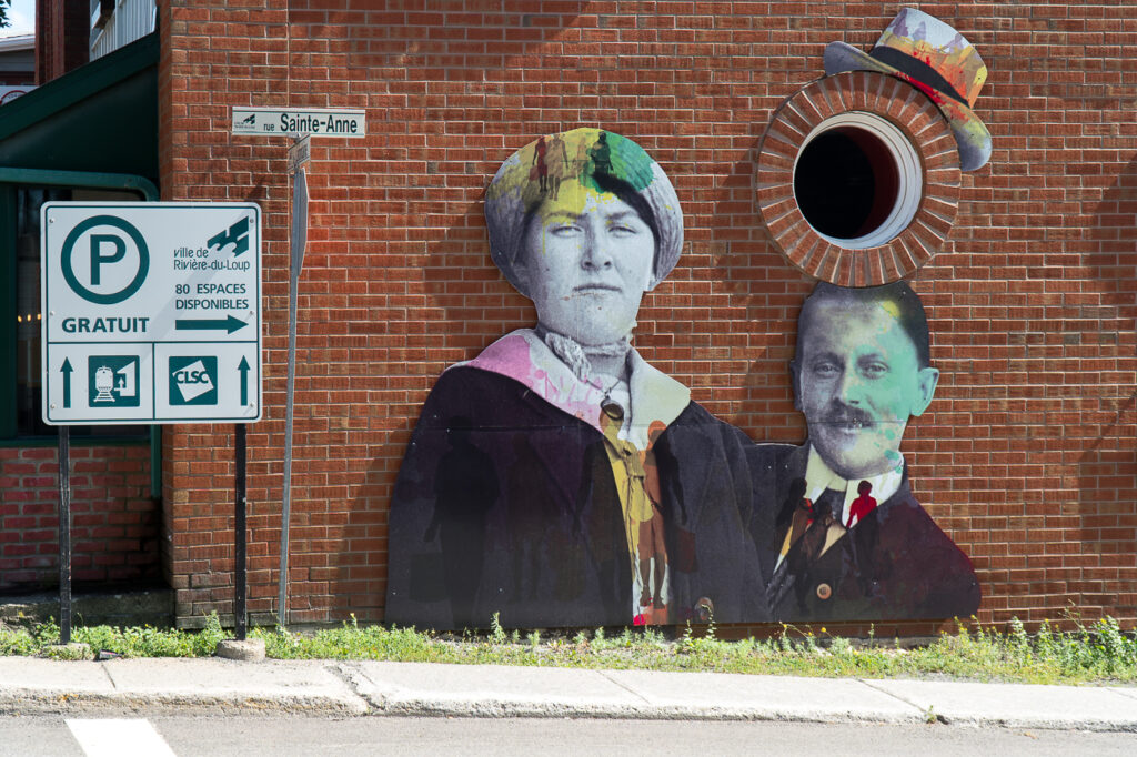 art de rue de Rivière-du-Loup