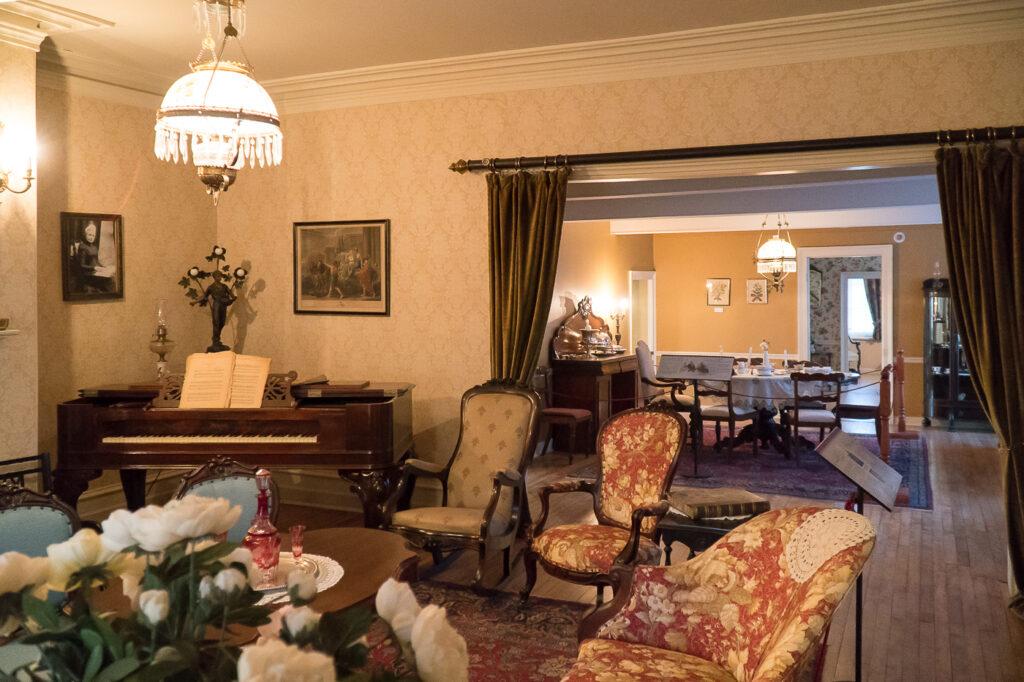 intérieur du salon Manoir Fraser