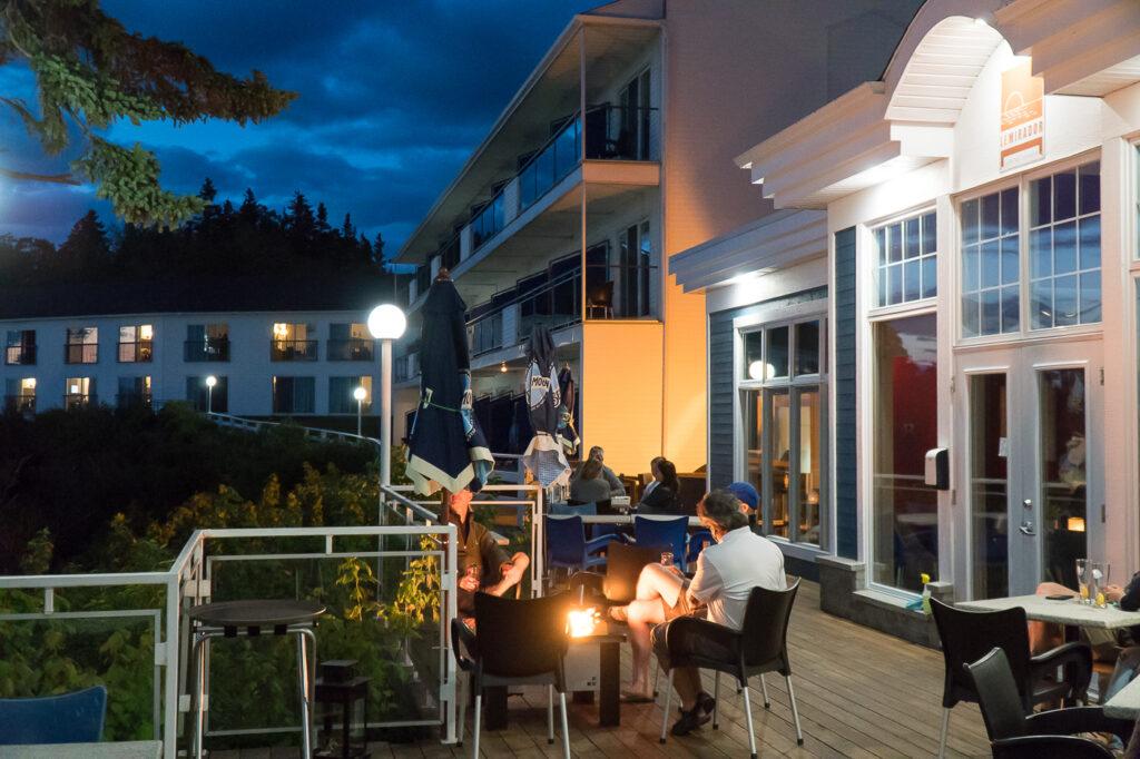 terrasse du restaurant L'Espadon