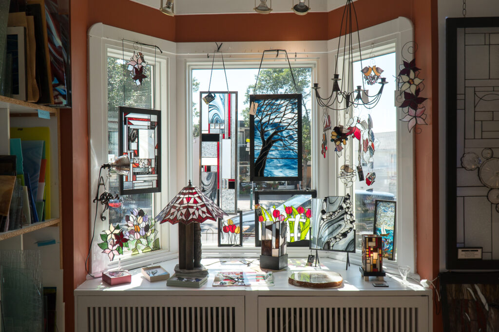 vitrail de Joane Michaud à l'Art Académie