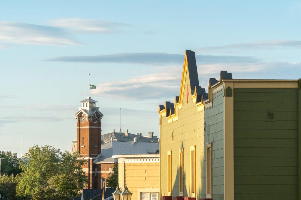 vue sur l'hôtel de ville de Rivière-du-Loup